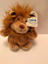 "Plush Dakin lion fluffs when you shake it tag says Lyon's Restaurant measures 7"""