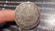 FRANCIA FRANCE 5 FRANCS FRANCHI 1839 A ARGENTO SILVER cod. FRANCIA-17
