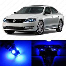 13 x Ultra Blue LED Interior Light Package For 2012 - 2013 VW Passat B7