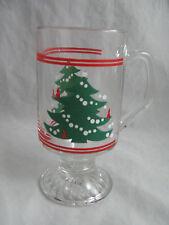 4 Christmas Tree Glass Footed Mugs 10oz New by Waechtersbach