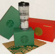 STARBUCKS - POLAR BEAR - Black White - Acrylic TRAVEL TUMBLER - 2016 *BRAND NEW