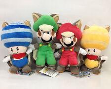Set 4X New Super Mario Bros. U Plush Soft Toy Flying Squirrel Luigi Mario & Toad
