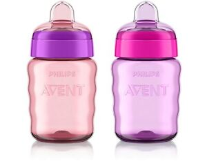 Philips Avent My Easy Sippy Cup - 9 Oz - Pink/Purple - Stage 2 (Colors May Vary)