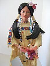 Judy Belle Native American Porcelain Doll for Danbury Mint Morning Song 1993