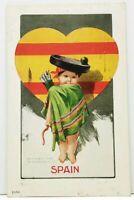 """Ullman  """"National Cupid"""" SPAIN Artist Signed C. Twelvetrees 1906  Postcard J7"""