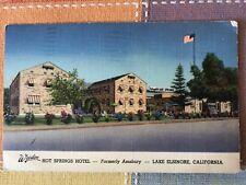 Hot Springs Hotel, Lake Elsinoe, California