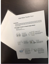 Waterslide Paper Blank Inkjet Printable Sheets A4 European Size Pack of 20