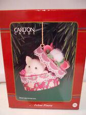 Carlton Cards Feline Finery Ornament Cat Heirloom #116