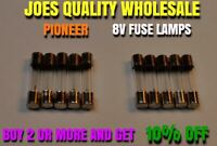 (10) FUSE TYPE LAMPS 8v 200mA/250mA /DIAL METER STEREO RECEIVER Pioneer SX BULBS