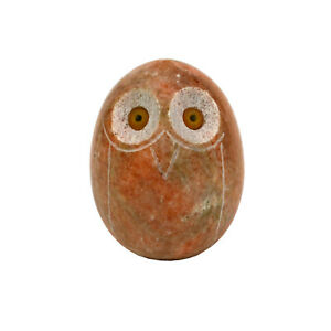 Gebrüder Lomprich Eule aus Marmor orange