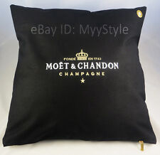 MOET CHANDON ICE IMPERIAL CHAMPAGNE OUTDOOR CUSHION COVER BLACK- GOLD / SET OF 4