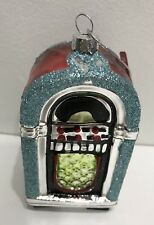 Nwt Blown Glass JukeBox Christmas Tree Ornaments/decoration