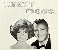 1970's TONY MARTIN CYD CHARISSE Disco '76 Menu HOLIDAY HOUSE Monroeville PA