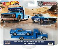 69 Ford Mustang Boss 302 & Retro Rig Ford Race Team,Scale 1:64 by Hot Wheels