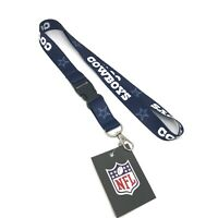 Dallas Cowboys NFL Blue Lanyard Key Ring Keychain
