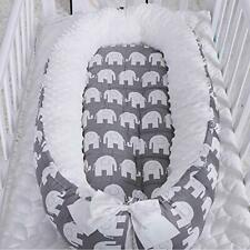 0-24 Month Removable Baby Bassinet, Portable Soft Bubble Velvet Newborn Bed -Us