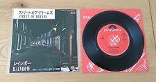 "RARE Rainbow Street Of Dreams 1983 Japanese 7"" Single Insert Classic Hard Rock"