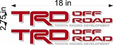 TOYOTA TRD Off Road / PAIR / Red Silver / Truck Bed Vinyl Graphic Decal Stickers