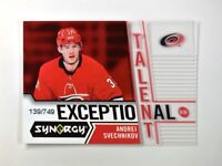 2018-19 18-19 UD Upper Deck Synergy Exceptional Talent 30 Andrei Svechnikov /749