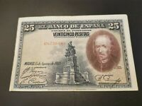 BILLETE DE 25  PESETAS  DEL CALDERON DE LA BARCA    (  EBC )  SERIE  C