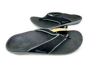 Spenco Men's Yumi Orthotic Flip Flops Slip On Comfort Sandals Black/Gray 77V az