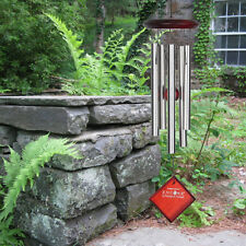 """Woodstock CHIMES OF MARS SILVER WIND CHIMES, 17"""" Overall Length Top to Bottom"""