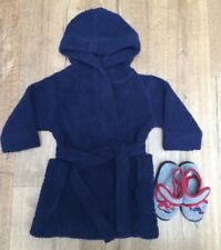 Boys Dressing Gown & Slippers Bundle - Size 1