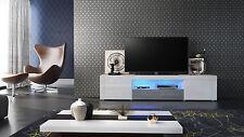"White High Gloss Modern TV Stand Unit Media Entertainment Center ""Santiago"""