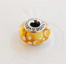 """Genuine Pandora Murano Glass Bead """"Yellow Bubbles"""" 790687 - retired"""