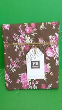 Pottery Barn Teen Sunwashed Floral Flower Botanical Dorm Duvet Cover Twin Coffee