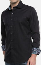 Robert Graham Salisbury Black Classic Fit Shirt Size Medium