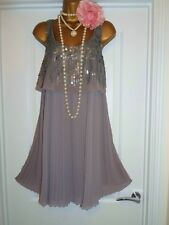 NEXT 1920s Style Gatsby Flapper Charleston Beaded Sequin Dress Size 16