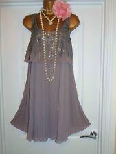 NEXT 1920 S style Gatsby Garçonne Charleston Perles Sequin Robe Taille 16