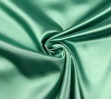 (EUR 4,97/m) SATIN FUTTERSTOFF Stoff Meterware elastisch glänzend Smaragdgrün