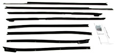 1967-1968 CADILLAC DEVILLE CONVERTIBLE WINDOW WEATHERSTRIP KIT, 8 PIECES