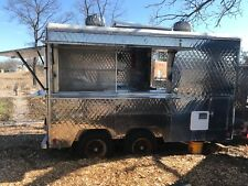 FOOD TRUCK For SALE, VINTAGE 12' STAINLESS STEEL QUILTED CONCESSION TRAILER