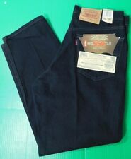 NWT Vintage Levis 550 Red Tab Relaxed Fit Black Denim Jeans Men's 34x30 Zip Fly