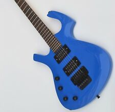 Special-shaped Left Handed Electric Guitar,Double Wave Guitar,Blue