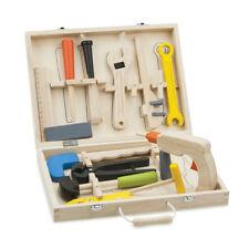 Werkzeugkoffer Werkzeugkasten Kinderwerkzeug Holz Spielzeug Bohrmaschine Säge