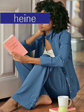 NEU: WOHLFÜHL HOMEWEAR RELAX MODE ! SWEATJACKE GR. 34 HEINE jeansblau *130216