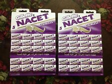 200 Blades Gillette NACET NEW STAINLESS Double edge blade Razor blades. Sale