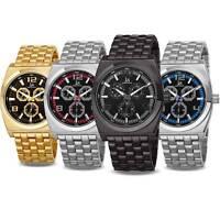 New Men's Joshua & Sons JS93 Quartz Multifunction Military Time Bracelet Watch
