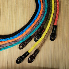 Blue 95cm Woven Cotton Rope Cam-in Camera Strap with ring connection UK Stock