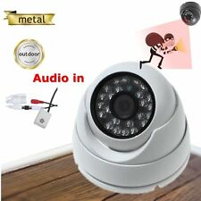 1080P Outdoor 2Mp Dome IP Security Camera Audio Metal Housing IR Night Vision
