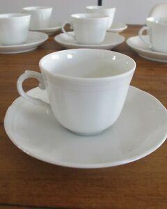 Richard Ginori Demitasse Cups & Saucers Set Of 6antico doccia bianco