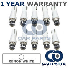 10X T5 286 74 17 18 WHITE DASHBOARD CHECK ENGINE LIGHT SHIFTER DOME LED BULBS
