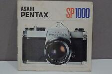 Pentax sp1000 Instruction Manual