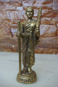 OLD HAND CRAFT AFRO MAN bronze small statue Figurine 12 CM