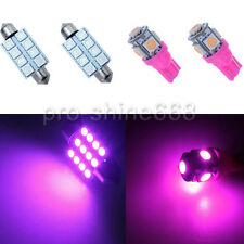SMD LED Interior 9PCS Lights Plate Map Package for Ford Mustang 2010 2014 Pink