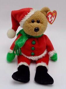 Ty Kringle Santa Ours Bonnet Bébé Peluche Jouet Neuf avec Étiquettes